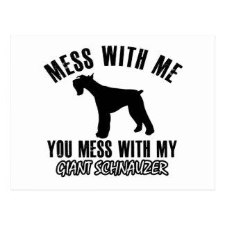 I love Giant schnauzer Postcards