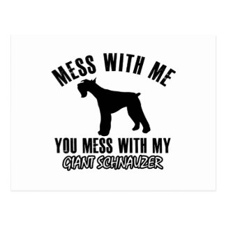 I love Giant schnauzer Postcard