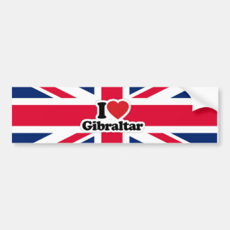 I Love Gibraltar Bumper Sticker