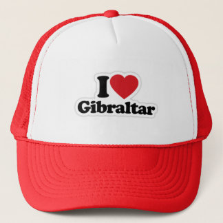 I Love Gibraltar Trucker Hat