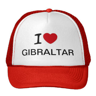 I Love Gibraltar Truckers Hat Design
