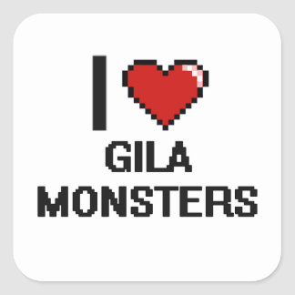 I love Gila Monsters Digital Design Square Sticker