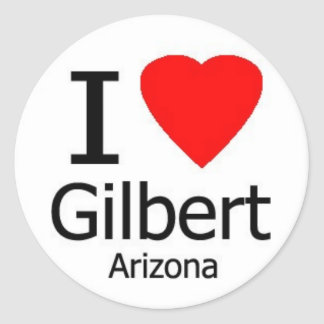 I Love Gilbert AZ Sticker
