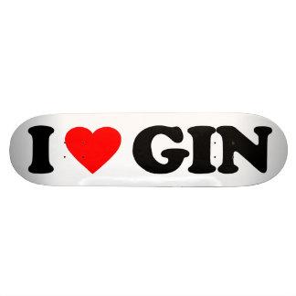 I LOVE GIN CUSTOM SKATEBOARD