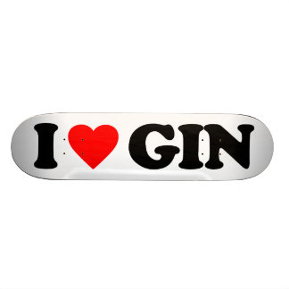 I LOVE GIN SKATE DECKS