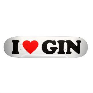 I LOVE GIN SKATEBOARD