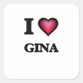 I Love Gina Square Sticker