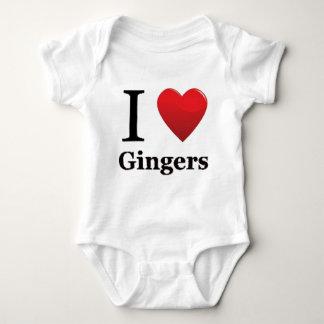 I Love Gingers Pajamas Baby Bodysuit
