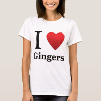 I Love Gingers T Shirt