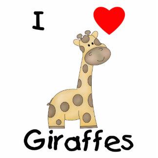 I Love Giraffes (2) Acrylic Cut Out