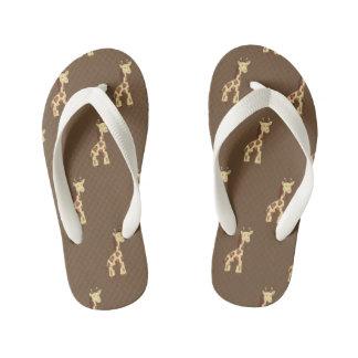 I Love Giraffes Kid's Flip Flops