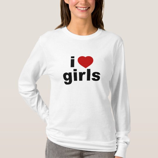 I Love Girls AA Hoody Long Sleeve (Fitted)
