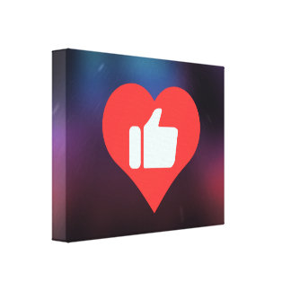 I Love Giving Thumbs Up Modern Stretched Canvas Prints