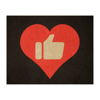 I Love Giving Thumbs Up Modern Cork Paper