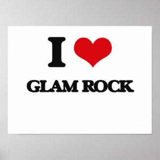 I Love GLAM ROCK Poster