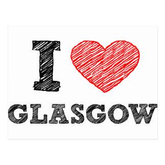I love Glasgow Postcard