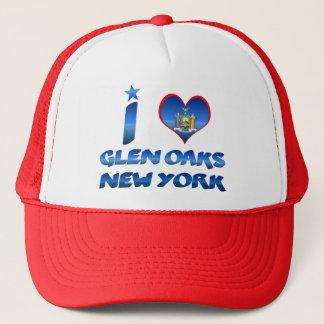I love Glen Oaks, New York Trucker Hat