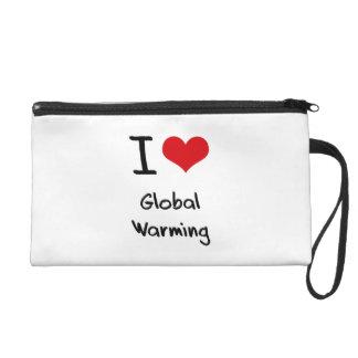 I Love Global Warming Wristlet