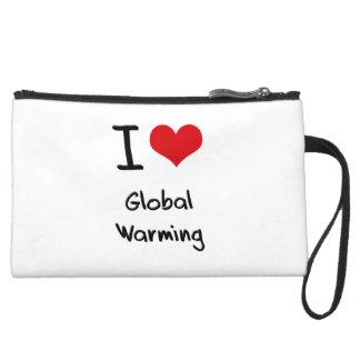I Love Global Warming Wristlets
