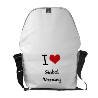 I Love Global Warming Courier Bags