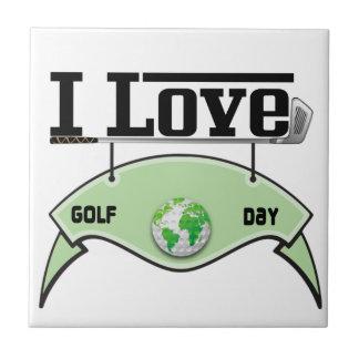 I Love Glof Day Tile