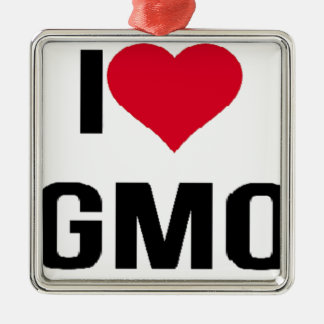 I Love GMO Metal Ornament