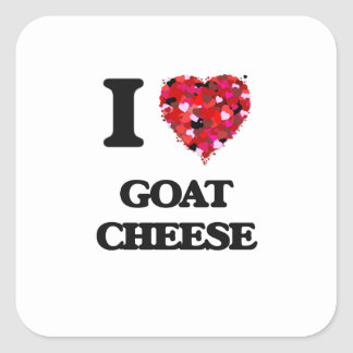 I love Goat Cheese Square Sticker
