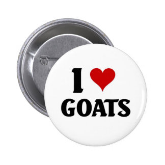 I love goats 2 inch round button
