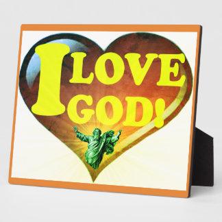 I Love God! Plaque