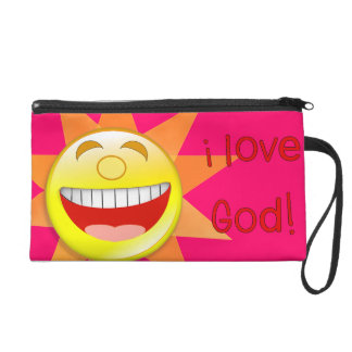 I Love God sun Wristlet Purse