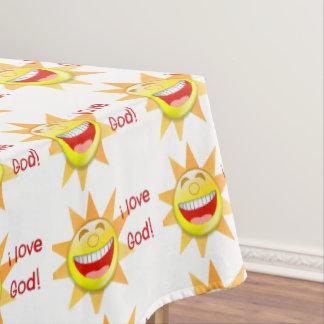 I Love God (suns) Tablecloth
