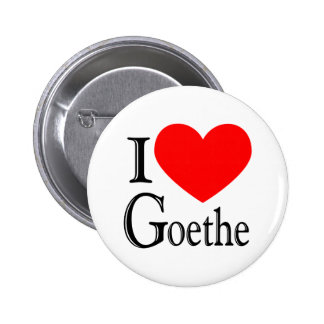 I Love Goethe 2 Inch Round Button