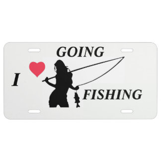 I LOVE GOING FISHING LICENSE PLATE