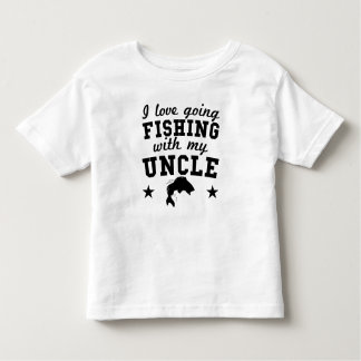I Love Going Fishing With My Uncle Toddler T-shirt