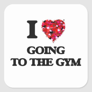 I love Going To The Gym Square Sticker