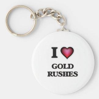 I love Gold Rushes Keychain