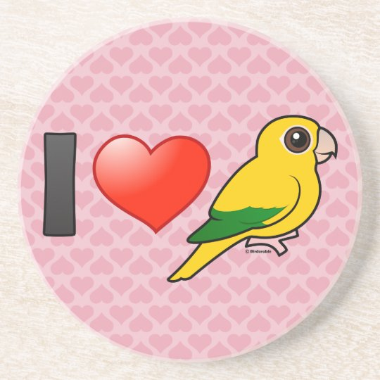 I Love Golden Conures Coaster