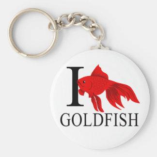 I Love Goldfish Keychains