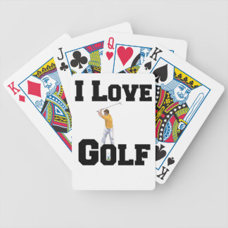 I Love Golf 01 Bicycle Playing Cards