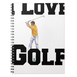 I Love Golf 01 Notebooks