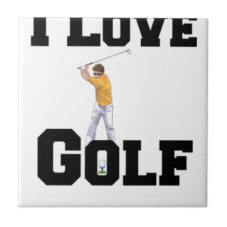 I Love Golf 01 Tile