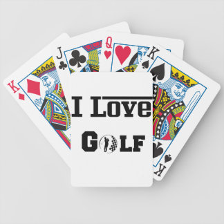 I Love Golf 2 Bicycle Playing Cards