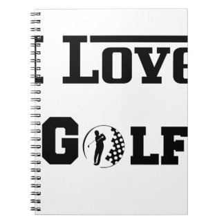 I Love Golf 2 Notebook