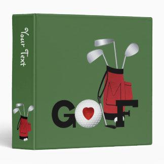 I Love Golf Binder