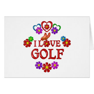 I Love Golf Card