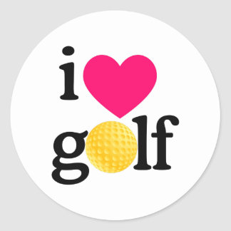 I love golf classic round sticker