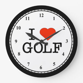I Love Golf Clocks