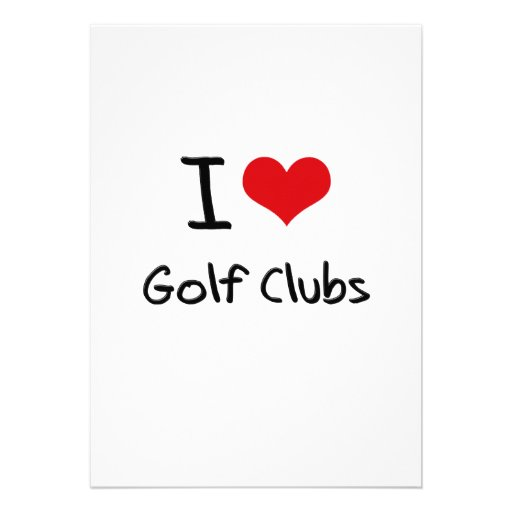 I Love Golf Clubs Personalized Invitation