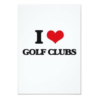 I love Golf Clubs Invitations