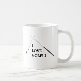I love golf! coffee mug